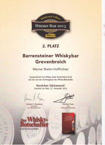 2. Platz Whisky Bar 2015